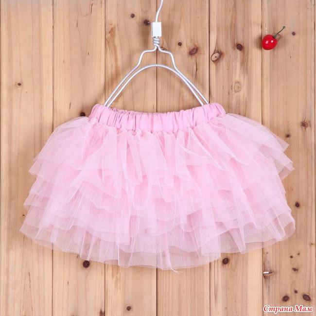Многоярусная юбка из фатина