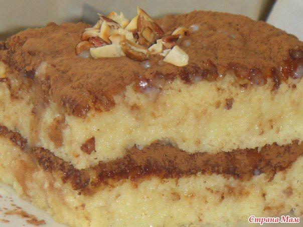 Пропитанный бисквит рецепт с фото