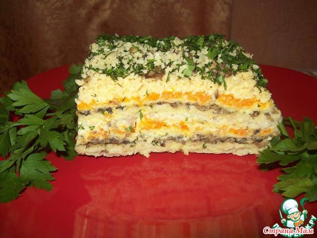 Закусочный торт вафельных коржей рецепт фото