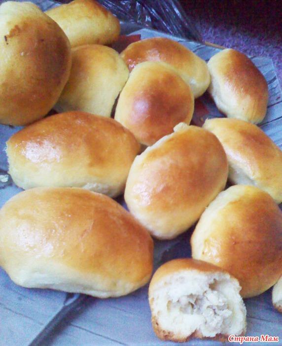 Пирожки из сырых дрожжей в духовке
