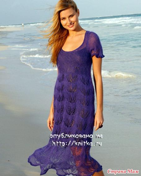 Ажурное платье с материалами