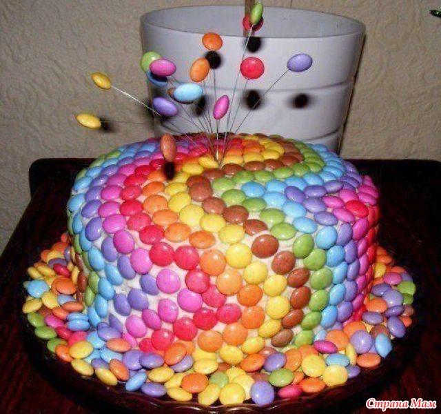 Как украсить торт на день рождения в домашних условиях