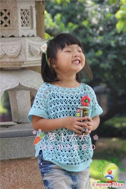 Летнее вязание кофточки для девочек