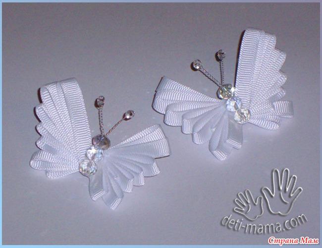 Бабочки из ленточек своими руками