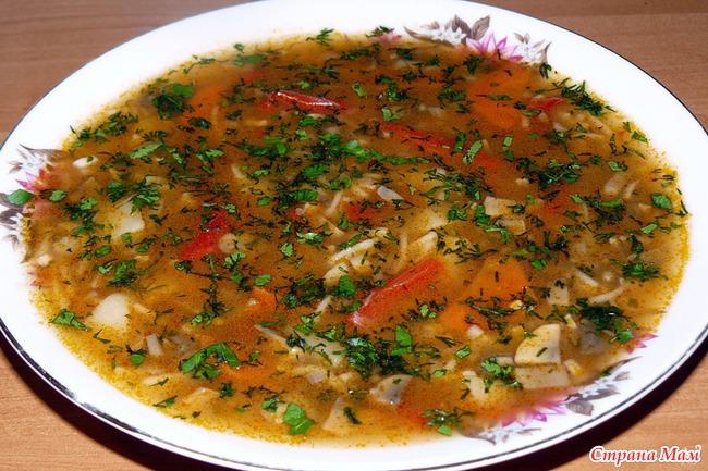 Суп из опят свежих рецепт с фото