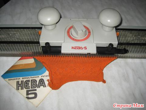 Машинка для вязания нева видео