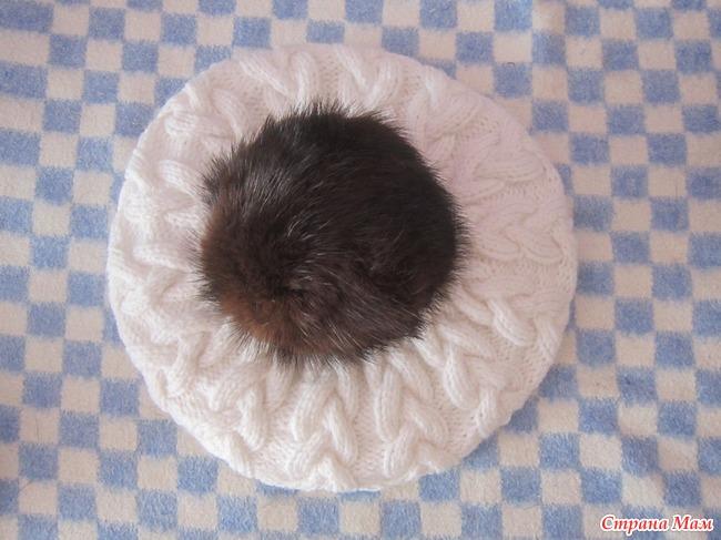 Как сделать из меха норки помпон