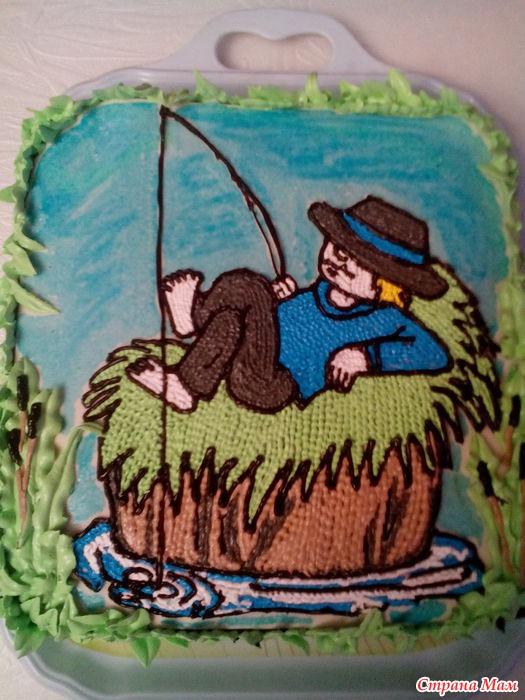 торт для мужа рыбака фото