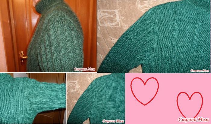 Вязание спицами рукав сверху от плеча 13
