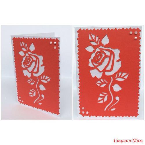 Мини открытки с розами