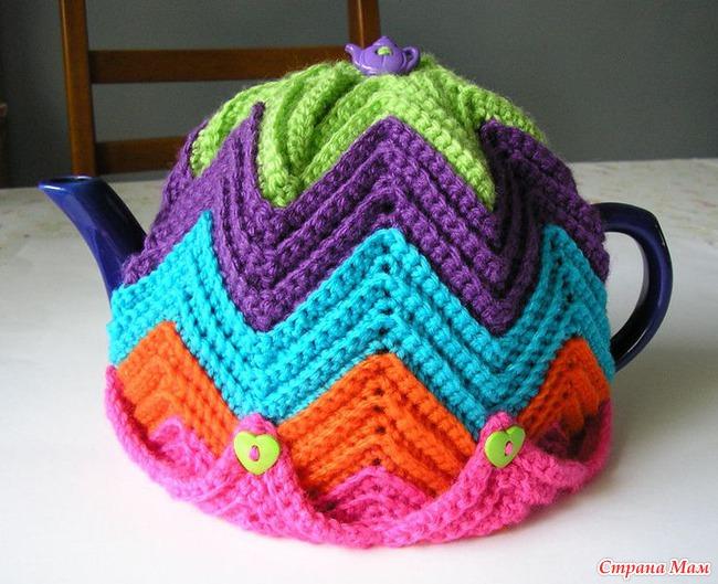 Грелки для чайника вязания крючком