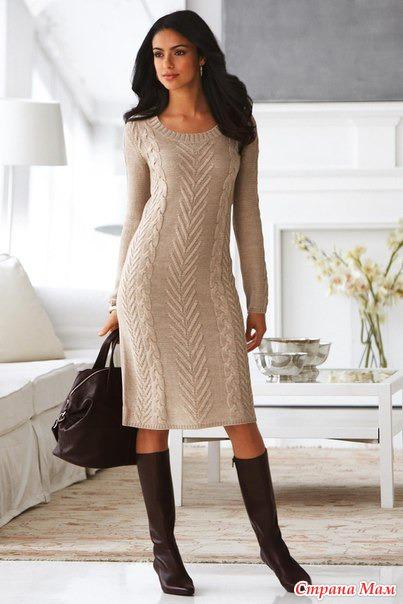 Спицами платье виктория