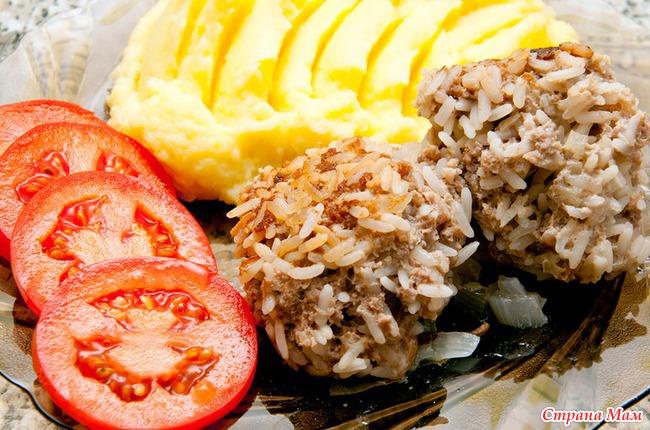 Рецепт мясных ежиков с рисом и сметаной