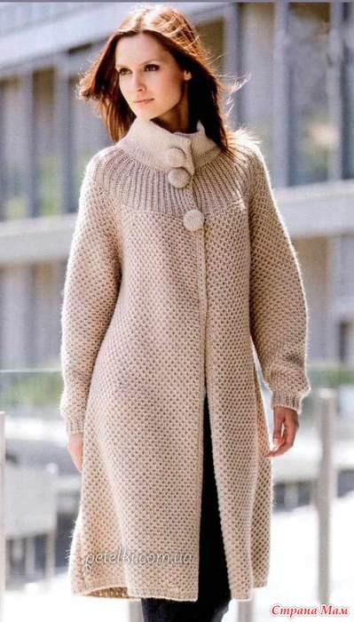 пальто женское спицами своими руками основ…При
