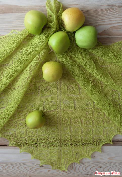 Схема шали свежее яблоко 118