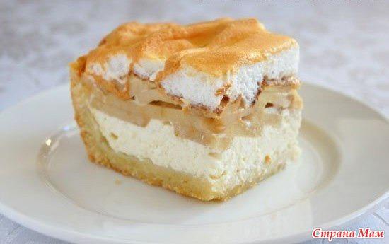 Рецепт пирога творог с яблоком