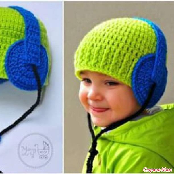 Вязание крючком для мальчика шапочки