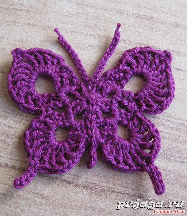 Бабочки крючком (схемы)