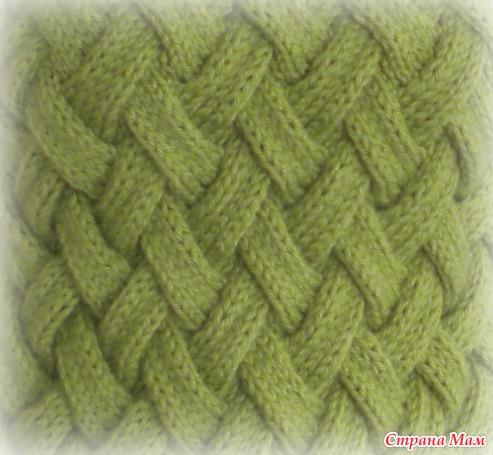 жилет узором плетенка спицами