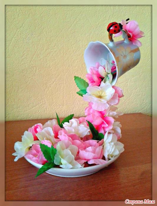 Цветы падающие из кружки своими руками 67