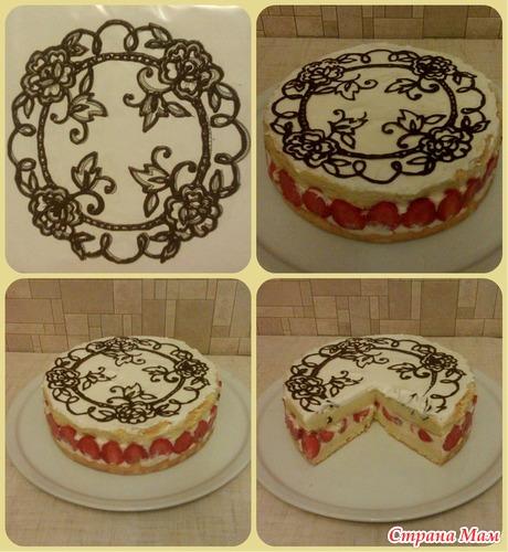 Как сделать узоры для торта
