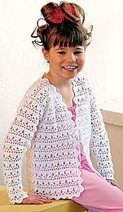 Вязание крючком жакет для девочек