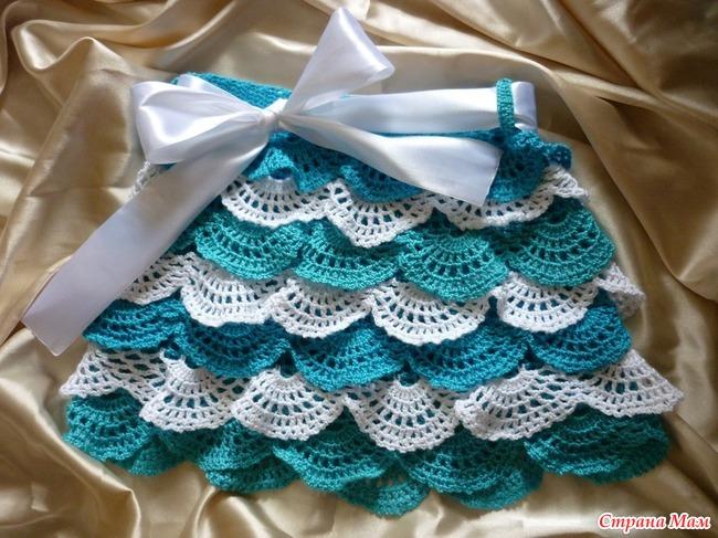 Вязание крючком вязание рюшей