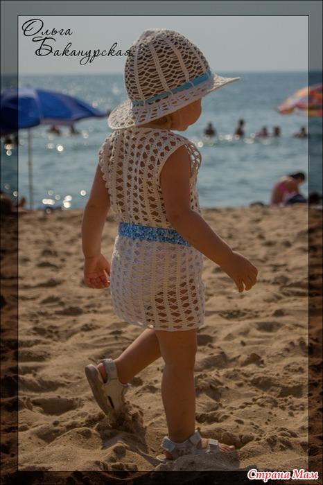 Пляжная ажурная туника