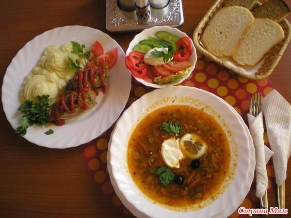 Что приготовить на обед первое и второе