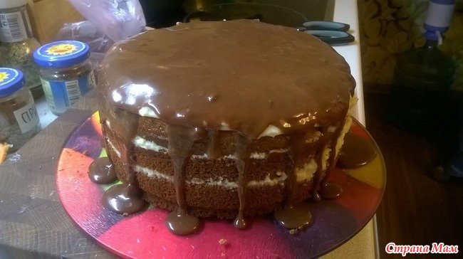 Шоколадный заварной торт рецепт с пошагово