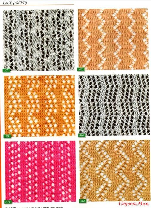 Машинное вязание ажурные узоры