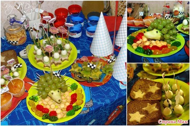 Детское день рожденье праздничный столы с фото