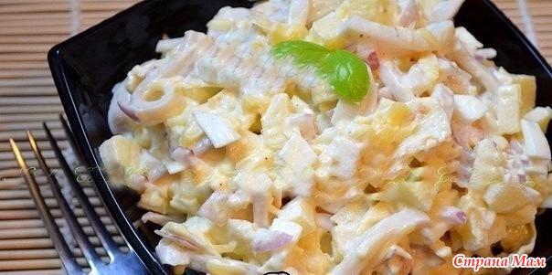 Простой салат с яичными блинчиками рецепт с
