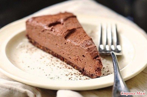 Шоколадный торт без выпечки с фото