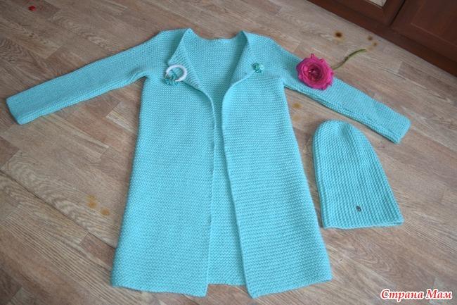 Вязание кардиган для девочки мастер класс 5