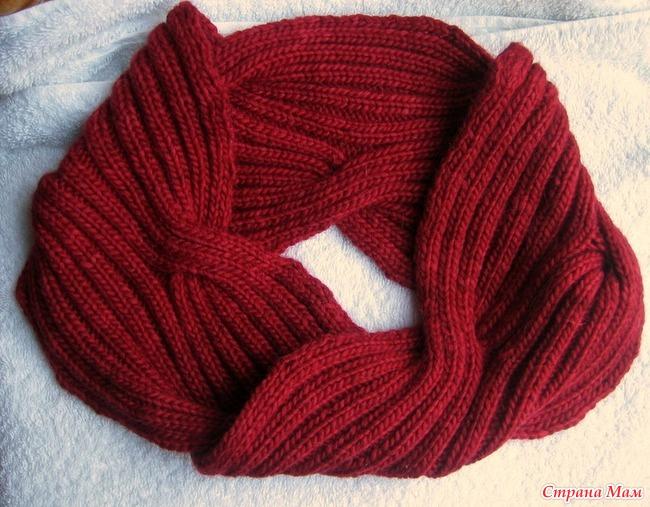 Шарфы вязание спицами