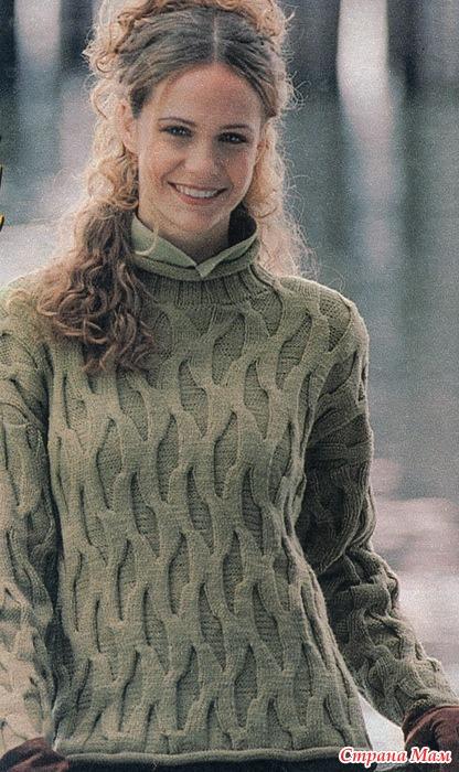 вязание кардигана для девушек