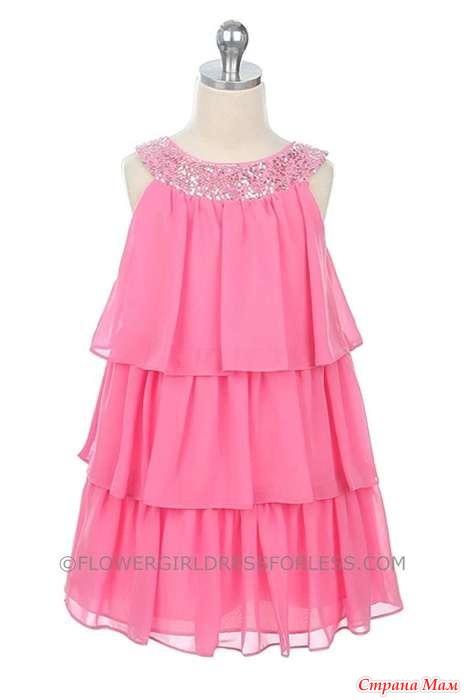 Как сшить детское платье из шифона