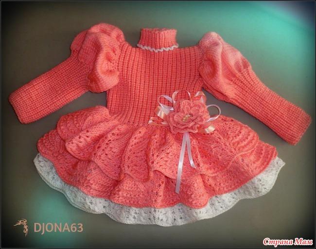 Вязание платья для малышек