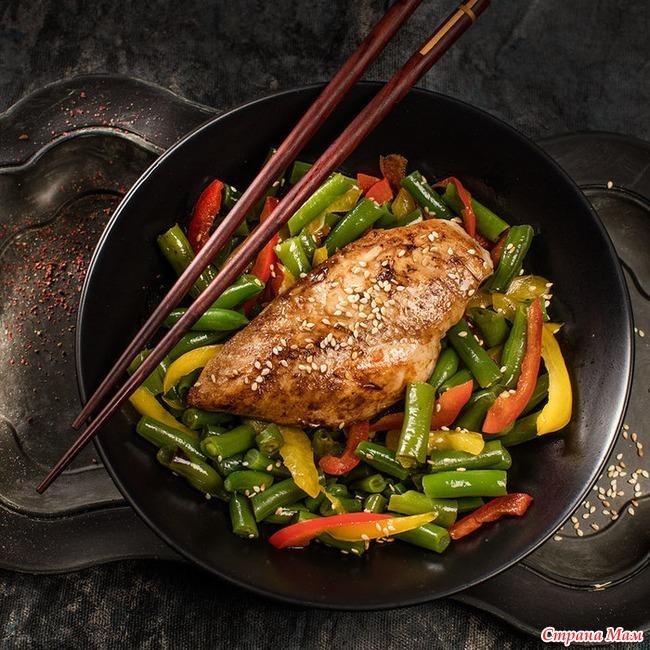 куриные грудки фасолью рецепт с фото
