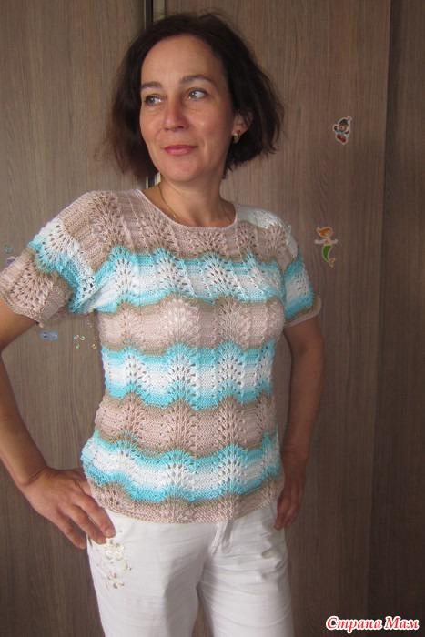 Вязание спицами из ализе белла батик с описанием 4