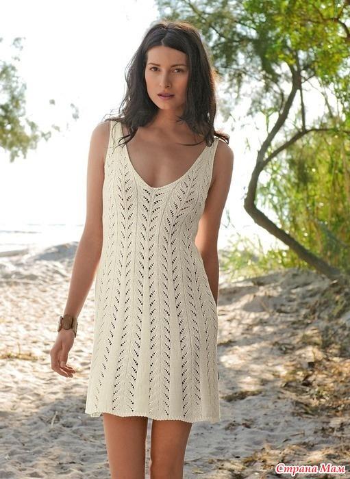 Платья вязаные летние