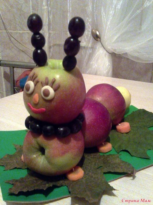 Какую поделку сделать из яблока