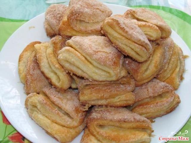 Гусиные лапки печенье из творога пошаговый рецепт с