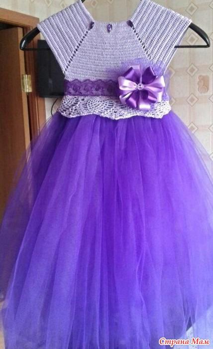 Платье с юбкой из фатина шью