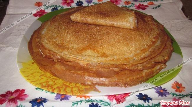 Рецепт вкусных блинов пошагово фото