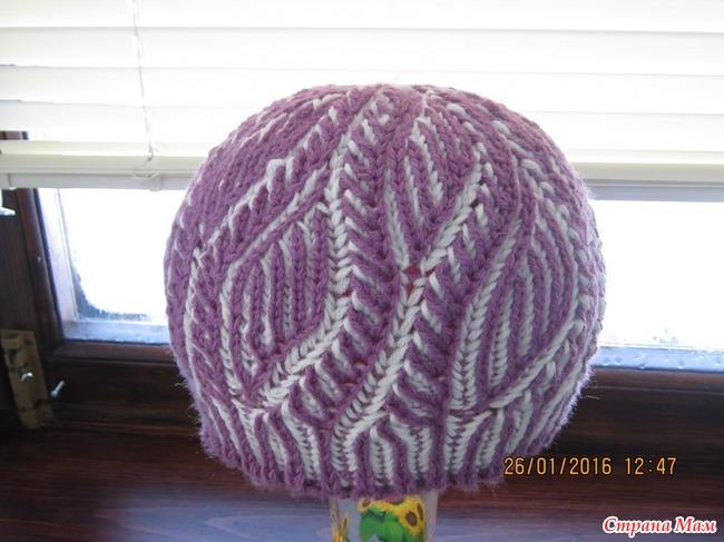Вязание объемных шапок в стиле бриошь