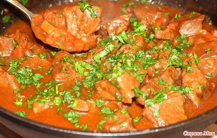 Потушить мясо говядина
