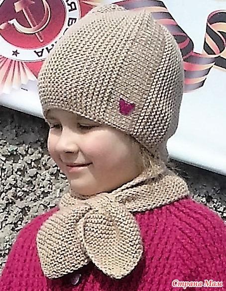 Шапка поперечное вязание с укороченными