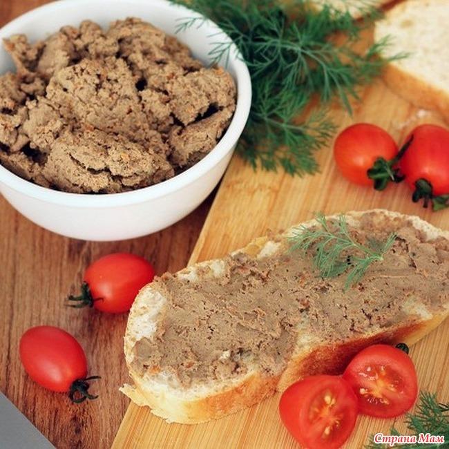 Куриный паштет из печени рецепт с фото